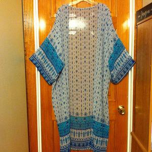 Sheer Chiffon Kimono Maxi